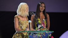 Jennifer Lopez, Naomi Campbell and Lady Gaga honour Donatella Versace at Fashion Awards