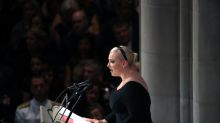 Meghan McCain says 'America has no need to be made great again' to applause at father's funeral