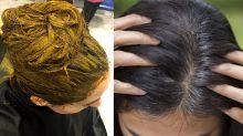 Mehndi for grey white hair