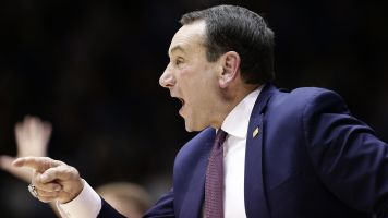 NCAA violation! Coach K says two letters too many