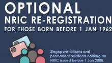 Citizens, PRs born before 1962 can re-register NRICs: ICA