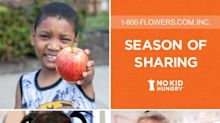 "1-800-FLOWERS.COM, Inc. Introduces ""Season of Sharing"" Holiday Gift Collection to Benefit No Kid Hungry"