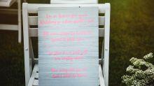 Noiva reserva lugar no casamento em homenagem ao filho morto e recebe grande surpresa
