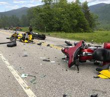 The Latest: Biker crash suspect had past drunk driving count