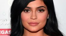 Kylie Jenner identifies the arm in her Lip Kit swatch Snapchats
