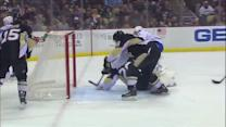 Gallagher jukes around Fleury for goal