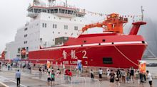 China's first homemade icebreaker heads to the Arctic as Trump looks for 10 more of them from 'a certain place'