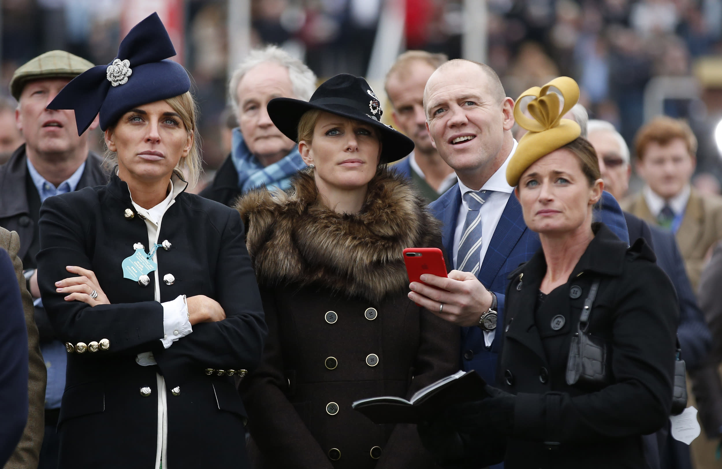 Britain Horse Racing - Cheltenham Festival - Cheltenham Racecourse - 16/3/17 Zara Phillips and husband Mike Tindall during Cheltenham Festival Action Images via Reuters / Matthew Childs Livepic EDITORIAL USE ONLY.