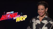 Evangeline Lilly explains how a talent scout tried to recruit her… on her way to do 'Ant-Man and the Wasp' press