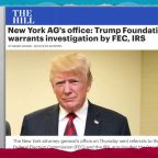 Corruption allegations force Trump to dissolve charity foundation