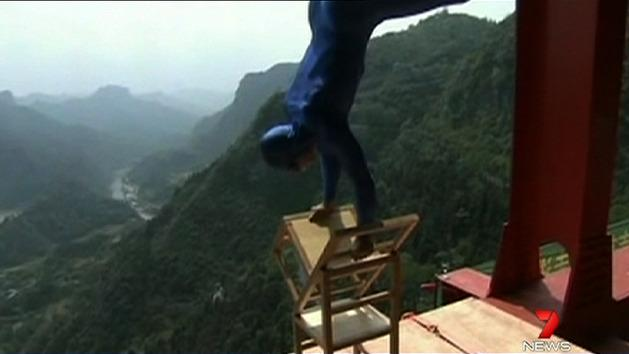 Daredevil's brave acts without harness