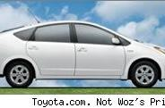 Woz drives his Prius very quickly