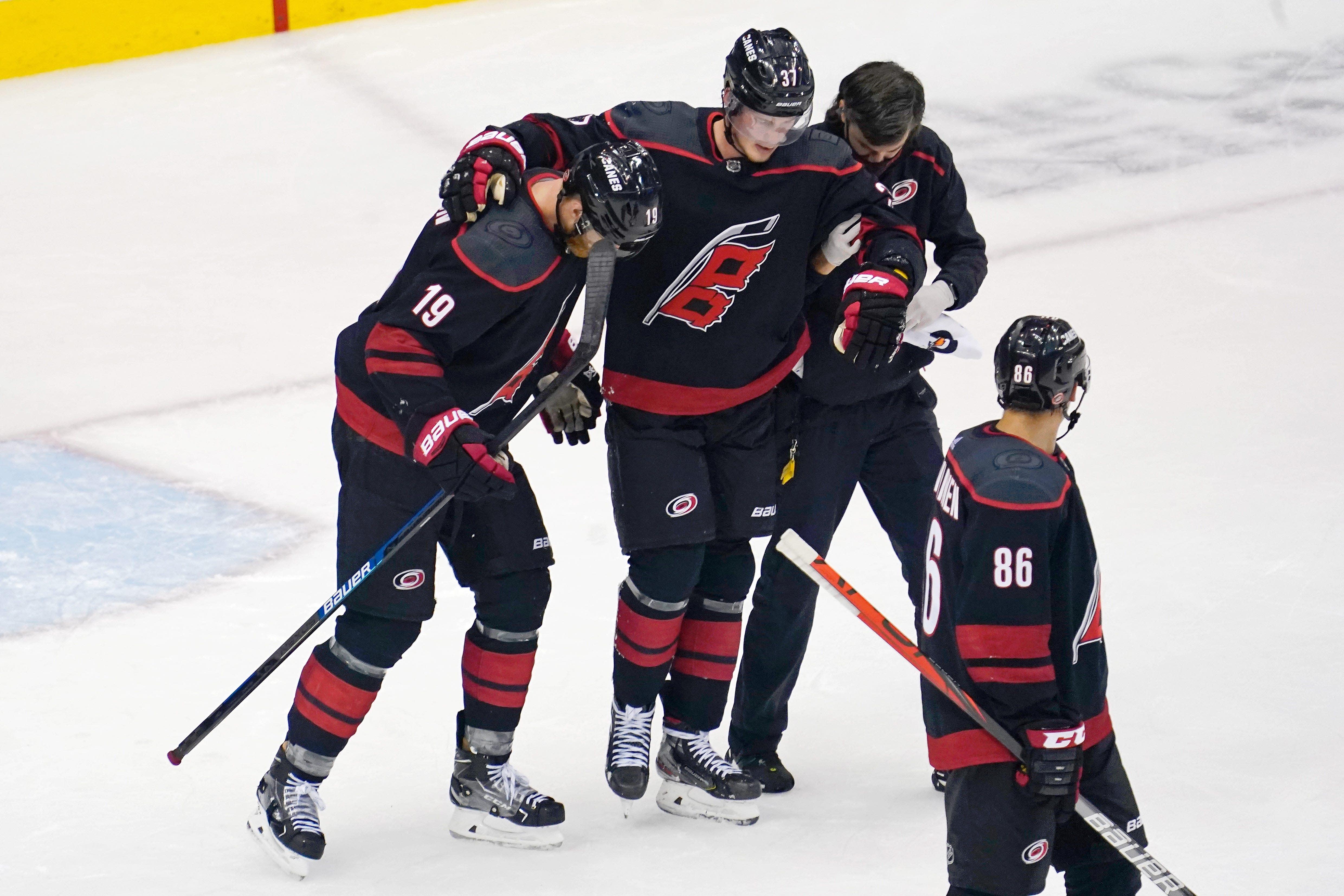 'You poke the bear:' Bruins announcer Jack Edwards' take on Andrei Svechnikov's injury draws criticism