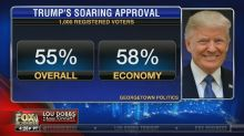 Trump calls incorrect Fox Business graphic on approval rating 'great news' — and Twitter has thoughts