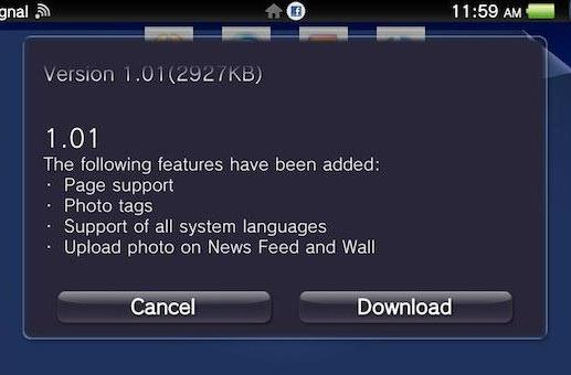 Facebook for PS Vita adds photo uploading, support for all system languages