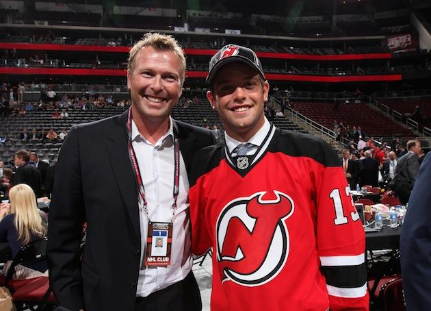 Martin Brodeur Announces Son S Selection By Nj Devils In Classic