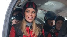 Amanda Holden felt no fear as she completed charity skydive