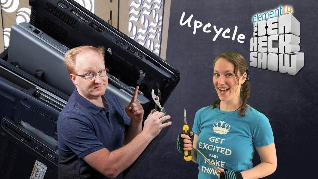 BenHeck makes aZelda lamp by upcycling laptop screens