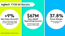 Logitech Delivers a Strong Start to Fiscal Year 2020 with Robust Sales and Profit Growth