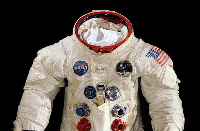Neil Armstrong's spacesuit is wasting away