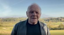 Anthony Hopkins, who was asleep during his surprise Oscar win, honors Chadwick Boseman in video