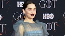 Emilia Clarke just wore a dragon-inspired hairstyle for the Game Of Thrones premiere