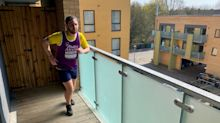 Man completes half-marathon during coronavirus self-isolation by running length of balcony 5,000 times