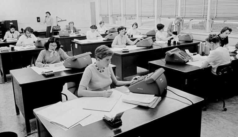 """Not all of the calculations were carried out by hand: Sue Finley and the other """"computers"""" made use of electro-mechanical adding machines called """"Fridens,"""" though these could handle only basic arithmetic (AFP Photo/HO)"""