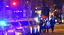 Manhunt underway and mosque sealed off following fatal stabbing in London