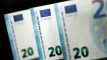 Euro buoyant on improved economic views, awaits euro zone PMI