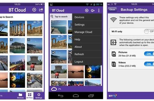 BT offers mobile cloud storage service to broadband customers in the UK