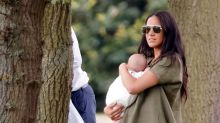 George, Charlotte and Louis met baby Archie for first time at polo