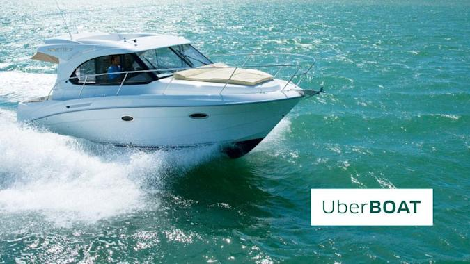 Uber's latest service takes you across continents in a speed boat