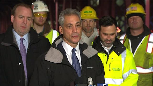 RAW: Mayor Emanuel comments on reopening of Wells Street Bridge