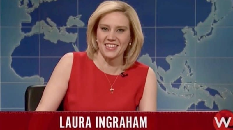 Kate McKinnon Kills As Laura Ingraham On 'Saturday Night Live'