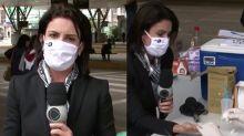 Repórter da Record faz teste ao vivo e descobre que está com coronavírus