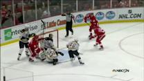 Datsyuk buries it on Rask from in tight