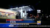 Armed robber holds up Arco gas station