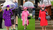 Queen Elizabeth II's Umbrella Styling Trick Is Now a Fashion Week Trend