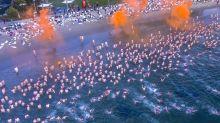 Hundreds strip for Hobart solstice dip