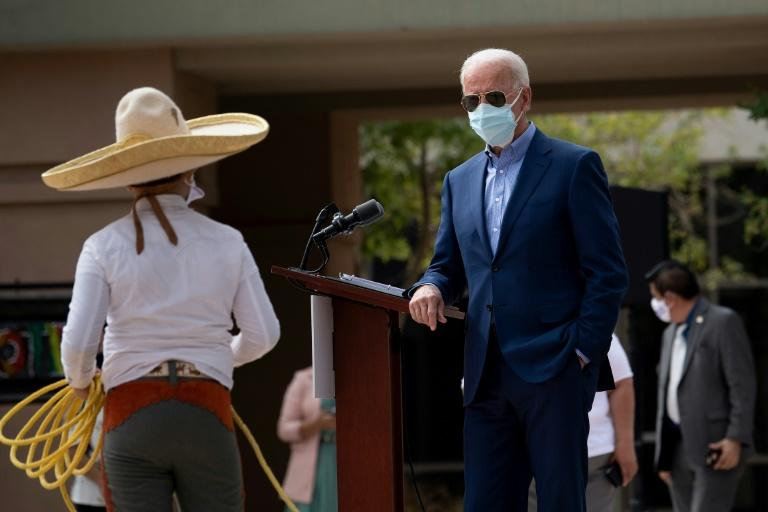 Democratic presidential candidate Joe Biden made a campaign swing through western states Arizona and Nevada while his 2020 election rival, President Donald Trump, has been recuperating from Covid-19