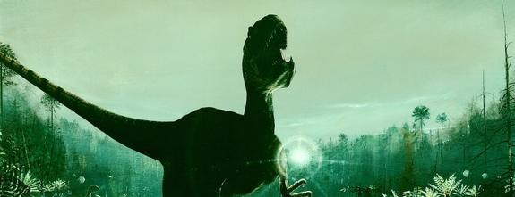 An artist's depiction of an Allosaurus dinosaur.