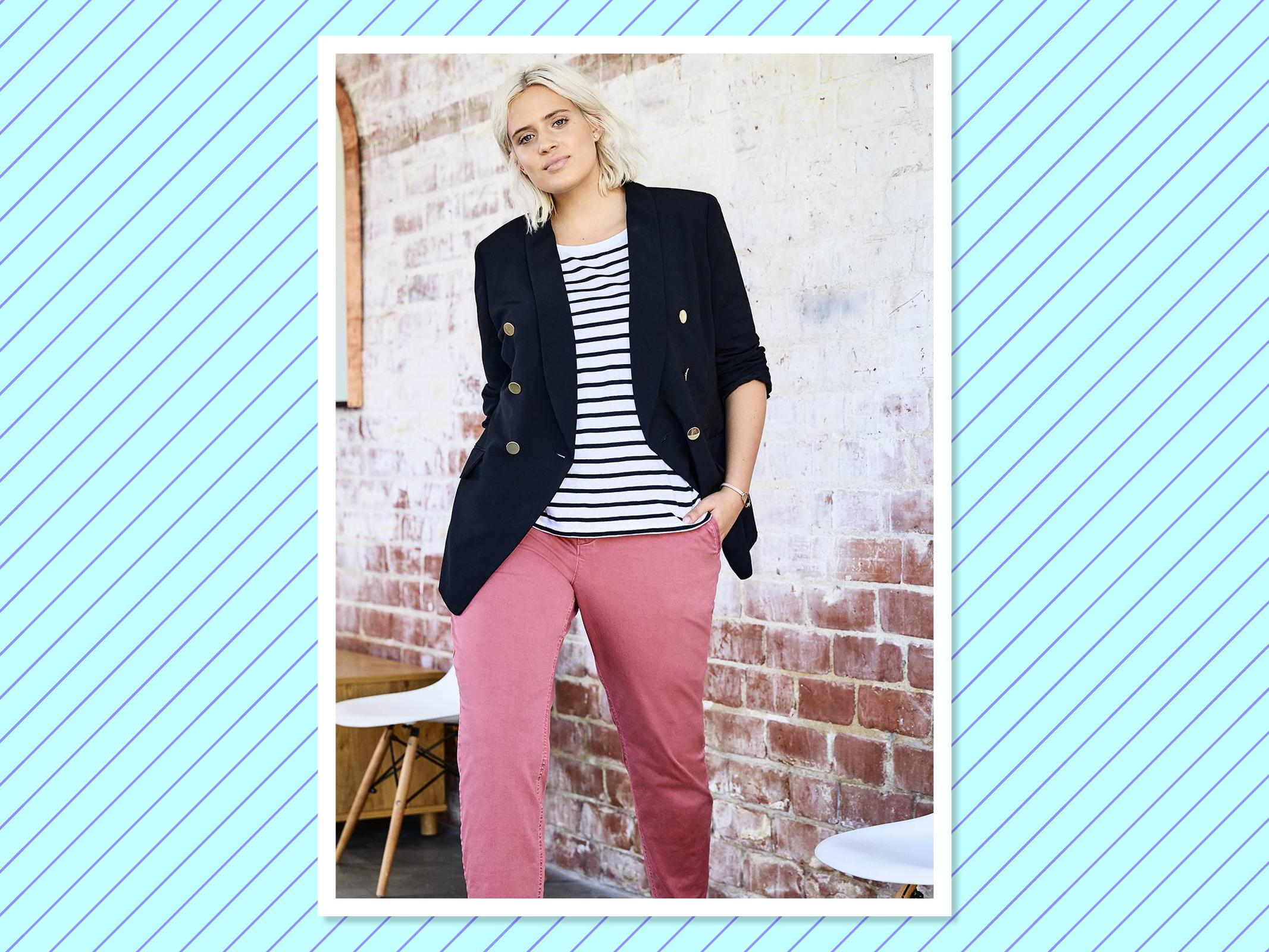 """<p>If you are a young professional who favors an ever-so-cute preppy vibe with a little personality, this is the store for you. After an overwhelming amount of customer requests for the successful brand to extend its sizes, Loft launched a full-on plus-size department last September. <a href=""""https://www.loft.com/plus-view-all/cat3760001"""" rel=""""nofollow noopener"""" target=""""_blank"""" data-ylk=""""slk:Loft"""" class=""""link rapid-noclick-resp"""">Loft</a> offers relaxed fashion for work or home, from classic tailored suits to separates to dresses. Sizes 0-26 (Photo: Loft) </p>"""