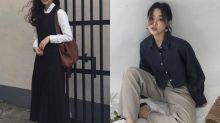 原來這種帶著 Boyish 的知性簡約風,是近日韓國女生大愛的造型