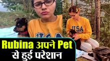 Bigg Boss 14; Rubina Dilaik plays with her dog before going to house