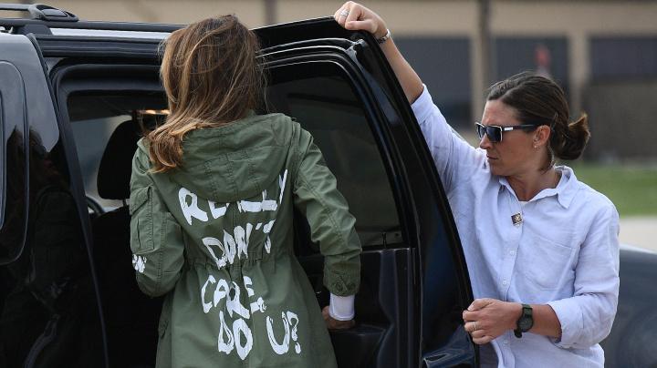 Trump: Yes, Melania's jacket had a message