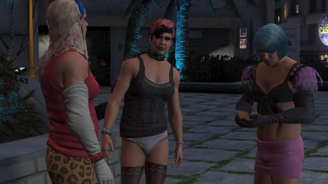 Trans characters in GTA V.