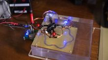 Batteries? Who needs 'em! Engineers just built a drone that can wirelessly recharge in midair