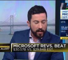 Microsoft tops revenue estimates in third quarter