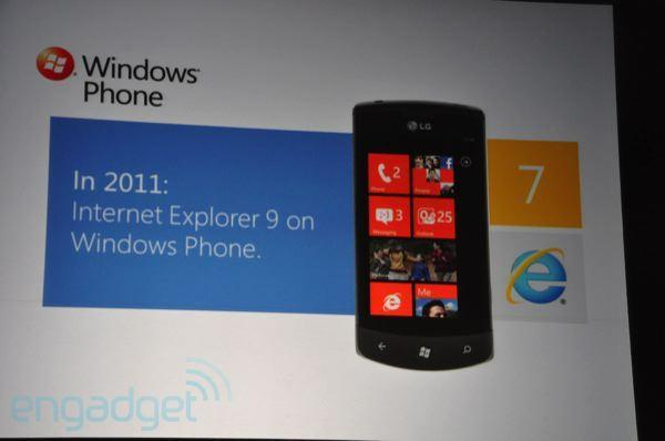 Microsoft shows off WP7's future with multitasking, Twitter integration, and IE9, all coming this year